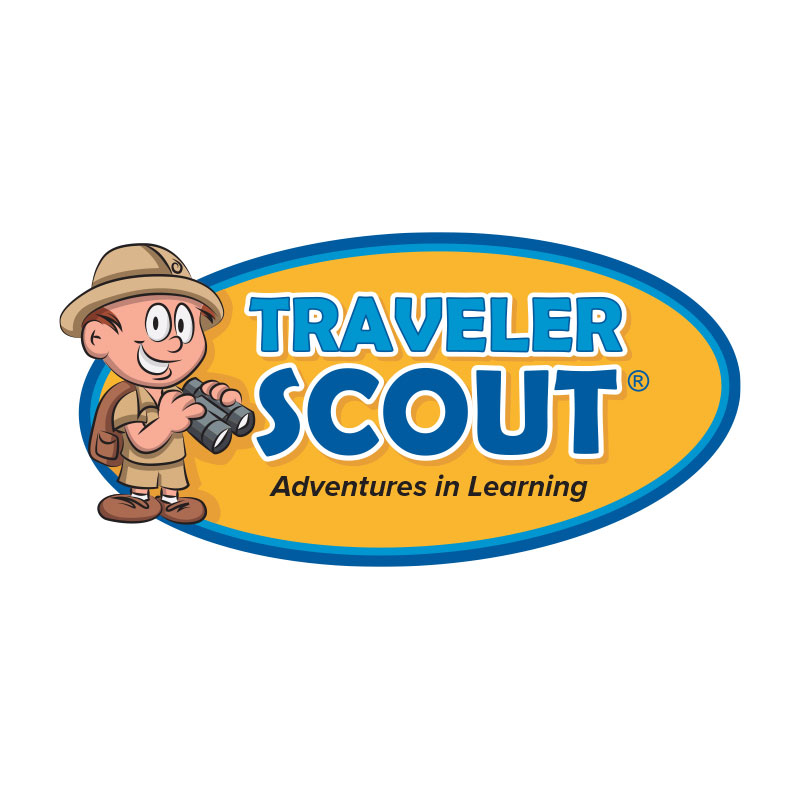 Traveler Scout Logo for Elementary Educational History Series